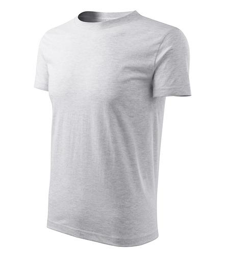 Férfi Classic New póló világosszürke melírozott
