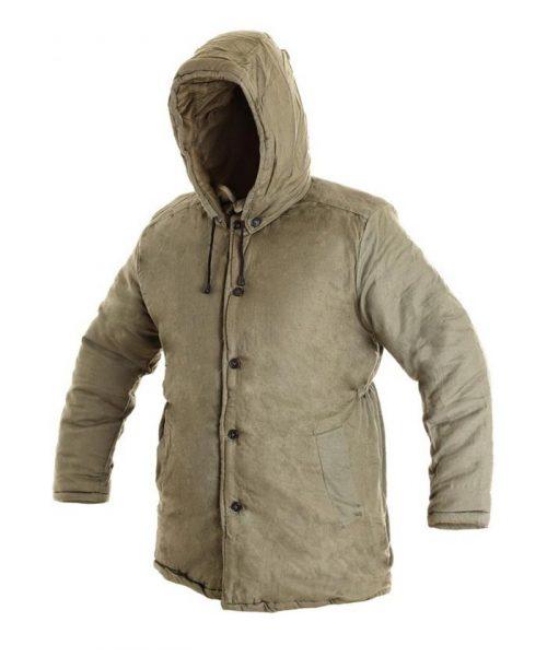 CXS JUTOS bélelt zöld pufajka kabát 100%pamut 147584dd71