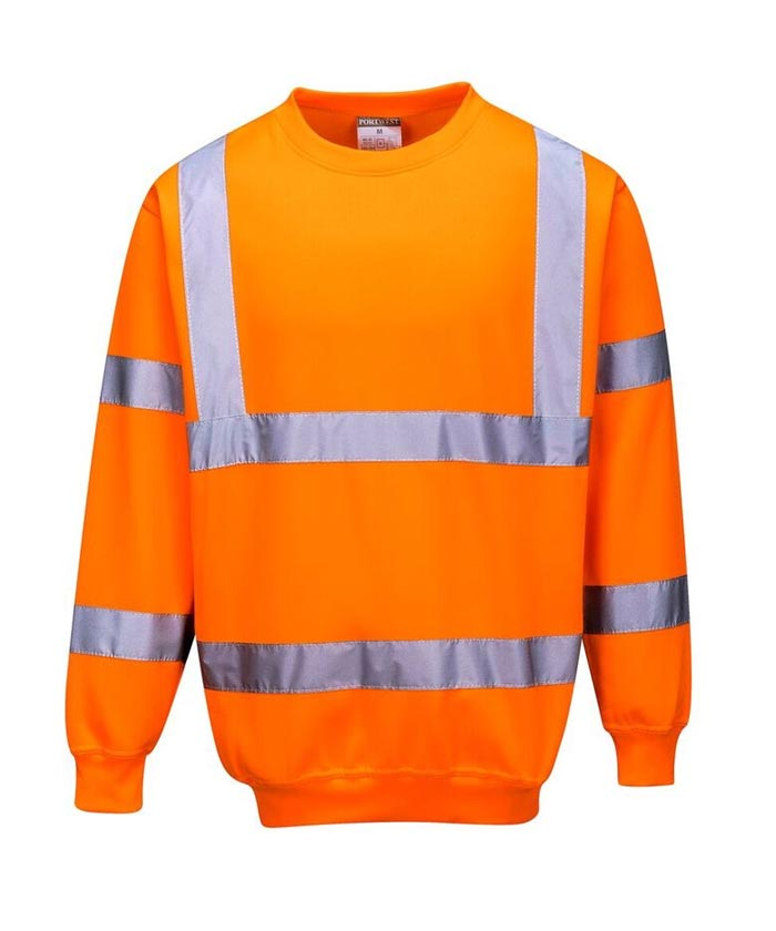 B303 jól láthatósági pulóver narancs
