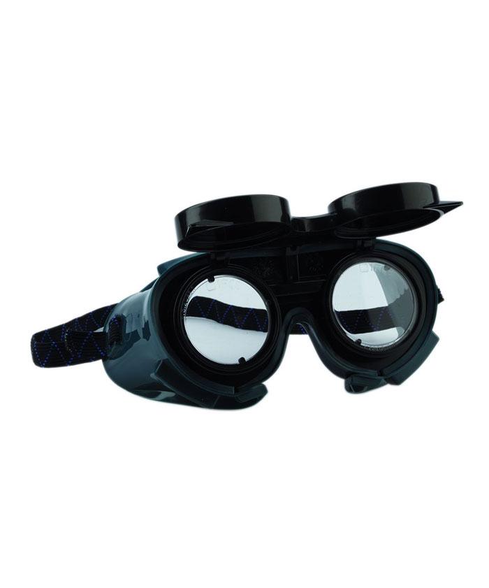 SE1152 Gumipántos hegesztő védőszemüveg felhajtható lencsével