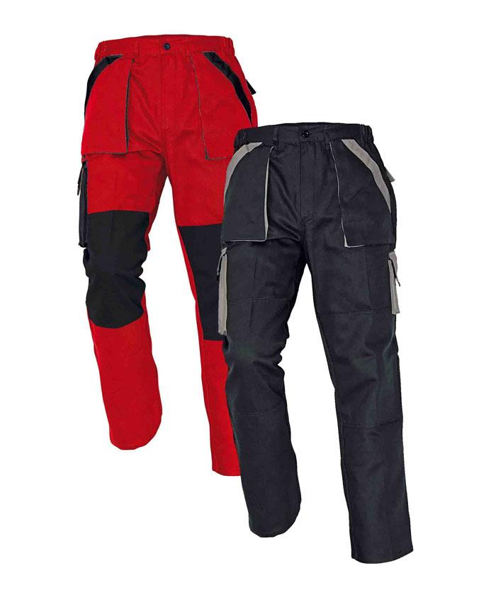Cerva Max nadrág piros-fekete, fekete-szürke