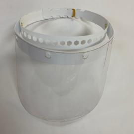 Műanyag arcvédő pajzs