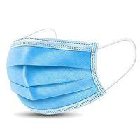 Egészségügyi, 3 rétegű, kék szájmaszk