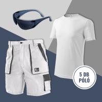 Festő nyári szett: rövidnadrág + 5 db fehér póló + ajándék szemüveg