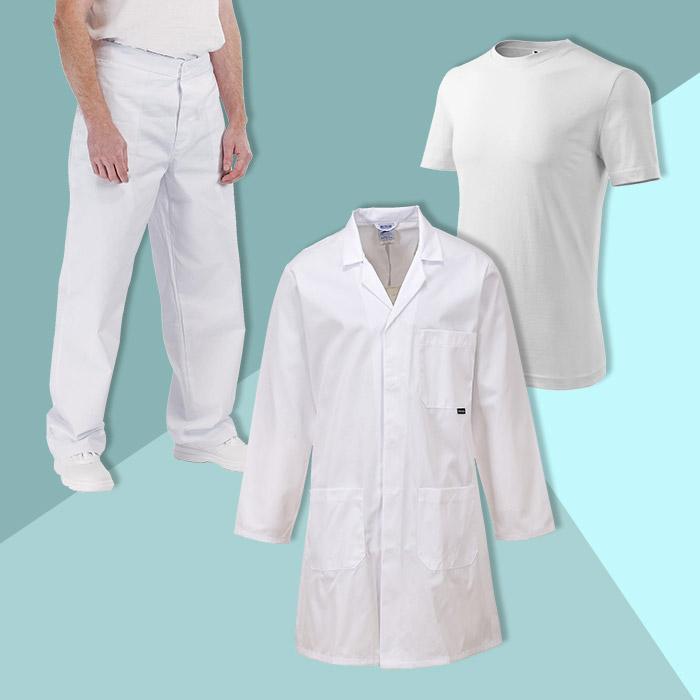 Orvosi köpeny+ nadrág+ajándék póló szett
